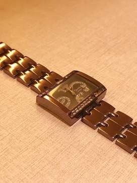 Dijual murah jam tangan Alexandre Christie 2095LH original warna brown