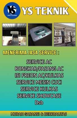 Service Ac Kulkas Showcase Mesin Cuci Dll