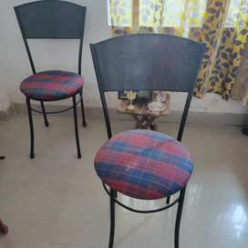2 steel chairs in good condition