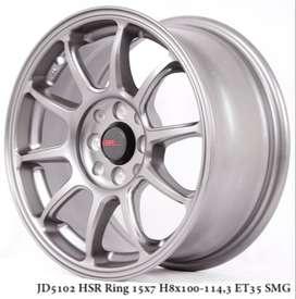 variasi velg HSR R15X7 H8X100-114,3 ET35 SMG