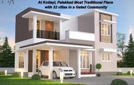@ Kottayi - Brand New - Low Budget - 3 Bhk villas for sale in Pudur