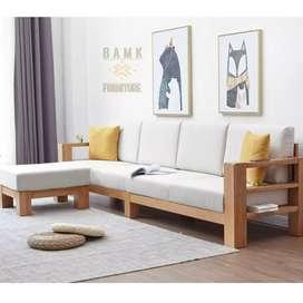 Kursi sofa sandaran kaki set