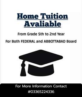 Home Tution / Online Classes From Grade 5th to 2nd Year