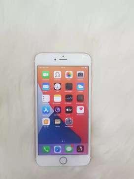 Hp second iPhone 6sPlus 128GB (rose gold) Hp + cassan layar atas retak