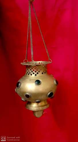 Antique night lamp made of brass