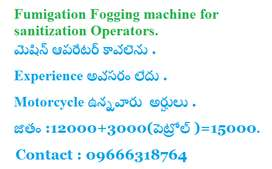 Fumigation fogging machine Operators