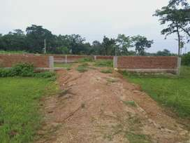 4.5 dismil raity plot on new four lane highway with boundary wall.