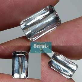 Batu mulia permata aquamarine beryl 3.20 crats loop clean HQ COD BSD