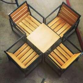 set kursi meja teras