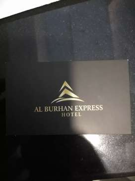 Required a Receptionist Guy in Al-Burhan Express Hotel