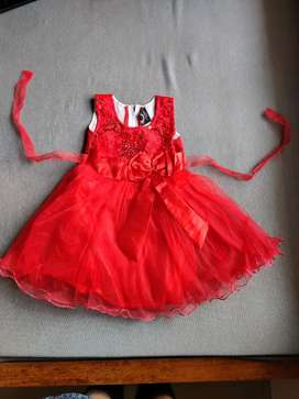 Red Frock for 1.5-3 Yrs
