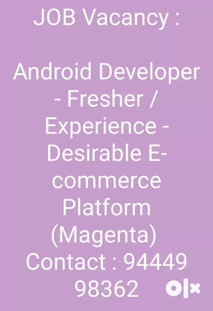 Android Developer -  E-commerce Platform (Magenta) 0