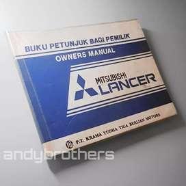 Buku Manual Book Pedoman Pemilik Mitsubishi Lancer 1600 1983 - 87 ORIG