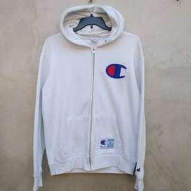 02 CHAMPION Zip Hoodie Jacket/Jaket Second Original 101%