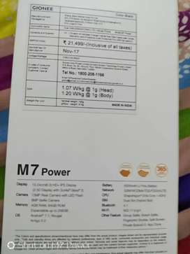 Gionee M7 power 5000mAh battery 4/64 ram rom