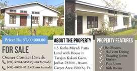 Rs.57 Lacs-1.5 Kotha Miyadi Patta Land with House for Sale in Tarajan.