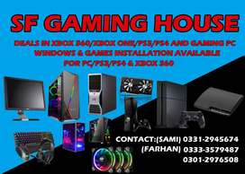 Gaming pc Xbox Playstation and games installation Accessories cards