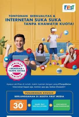 Internet rumah first Media wifi best promo