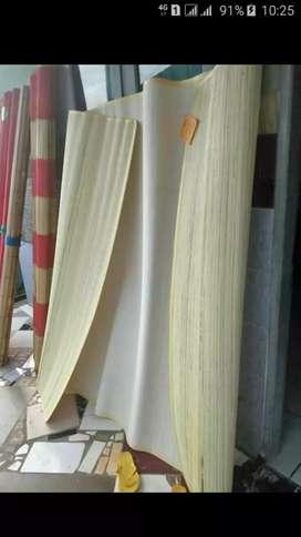 Tikar Rotan lampid,Tirai bambu isi,Tirai kayu motif