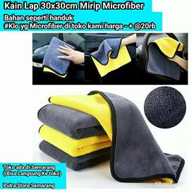 Kain Lap Handuk Mirip Microfiber Jumbo tebal 30x40cm Tp bukan