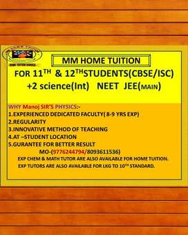 HOME TUTOR FOR 11TH 12 TH NEET JEE PHYSICS IN BBSR