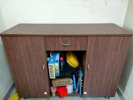 Wooden storage cabinet rack Almirah cupboard