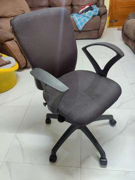 Office Chair with Push Back and Height Adjustable