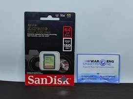 Memory Sandisk Class 10 Kapasitas 64GB Sdxc Up to 150MBPs