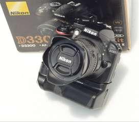 Nikon D3300 SC 10k Fullset plus BG