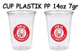 Gelas plastik untuk kopi CUP PP 14oz 7gram