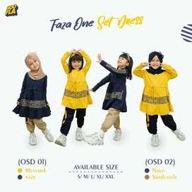 Baju anak faza one set dress