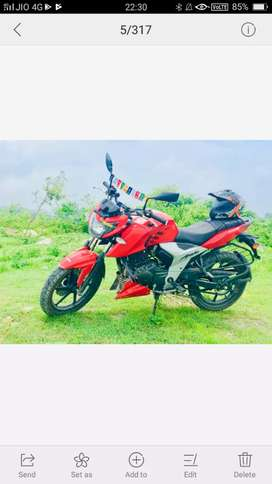 Apache  rtr 160 4v  red  color