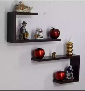 Wall hanging shelf solid wooden