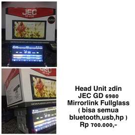 2din JEC MirrorLink Fullglass