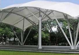 Kami bengkel las nerimah pemasangan kanopi atap membarane $$1713