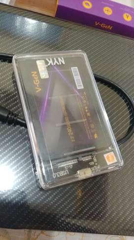 SSD V-Gen/V-Gen 240 + external case USB 3 transparant