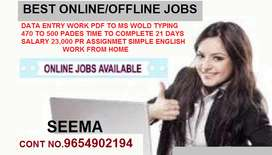 Home based part time job in data