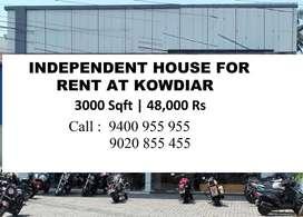 3000 Sqft Commercial House , Jawahar Nagar , Kowdiar , 48,000 Rs.