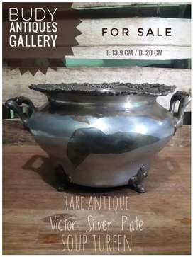 Rare Antique Victor Silver Plate Soup Tureen