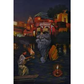 Quality Paintings Acrylic / Oil on canvas by Pancham Achar