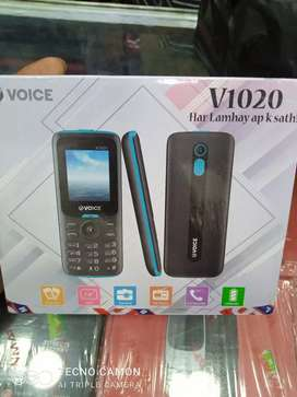 Voice V-1020 New Model Phone Box Pack  One Year Warranty Free Delivery
