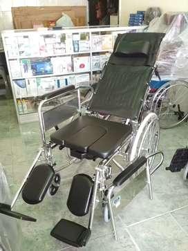 Kursi roda selonjor kaki bab tiduran 3in1