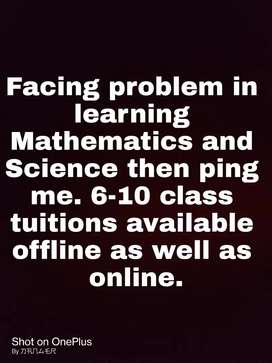 Tuition available for classes 6-10