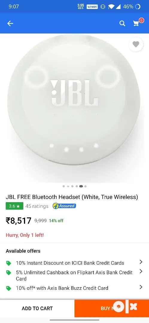 Jbl free x bluetooth headset in warranty 0