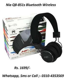 Nia Q8-851s Bluetooth Wireless Headphone Delivery Available alover Pak