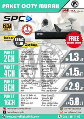 Hasil camera CCTV full color, connect HP anti ribet