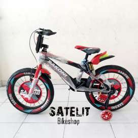 Sepeda BMX Anak Cowok Ban Besar 3.0 Sakoni Ukuran 16 Inch