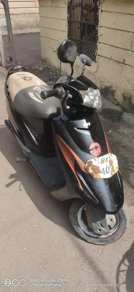 TVs scooty teenz, in black colour..