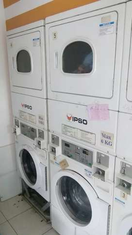 Service dryer laundry