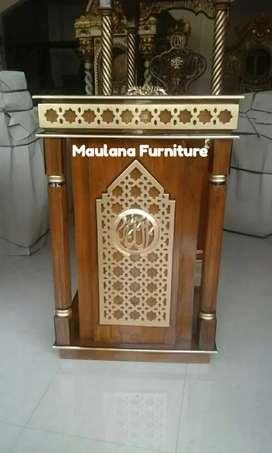 Mimbar furniture podium siap kirim